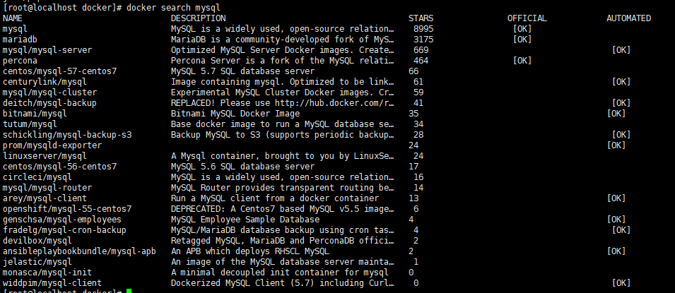 CentOS中Docker简单命令